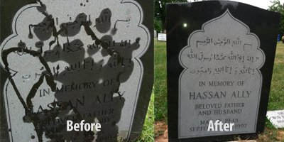 Monument Cleaning Brooklyn NY - Monument Restoration - Monument Lettering - hassan